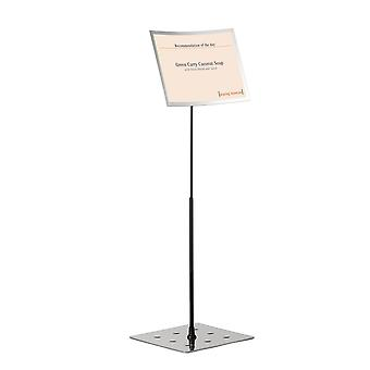 Soporte de suelo duradero 498223 Soporte Duraview (con marco magnético, para carteles en A3) 1 pieza, plata
