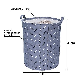 Large Capacity Folding Collapsible Laundry Basket Drawstring Closure Storage Organizer