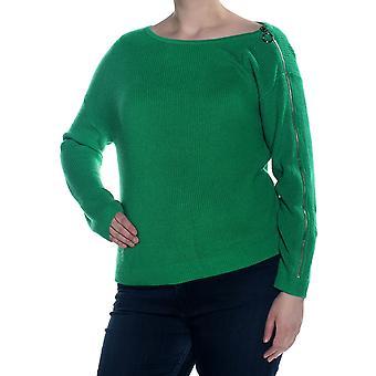 Bar III | Ribbed Zipper-Sleeve On/Off Shoulder Sweater