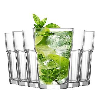 LAV Aras Highball Cocktail Tumbler Bril - 365ml - Pack van 6 Highball Glazen voor cocktails