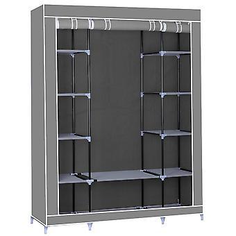 Herzberg HG-8009: Kleiderschrank - Grau