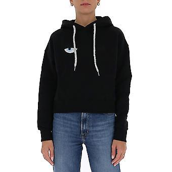 Chiara Ferragni Cff079blk Femmes-apos;s Sweatshirt en coton noir