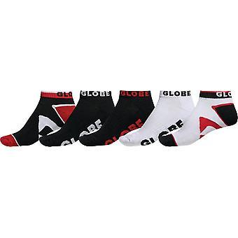 Globe Destroyer Ankle Socks 5 Pack - Red