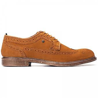 Base London Onyx Mens Suede Brogue Shoes Tan