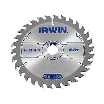 IRWIN Circular Saw Blade 150 x 20mm x 30T ATB IRW1897090