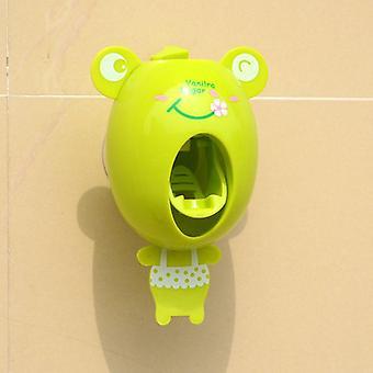 Cartoon Toothpaste Dispenser, Strong Suction Sucker Bathroom Accessories Set