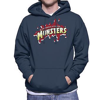 Universal Studios Monsters Blood Logo Men's Hooded Sweatshirt