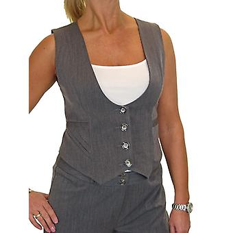 Women's Fully Lined Business Waistcoat Button Down Washable Formal Office Day Work 10-20