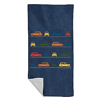 London Taxi Company TX4 Vinklad färgglada Montage Beach Handduk