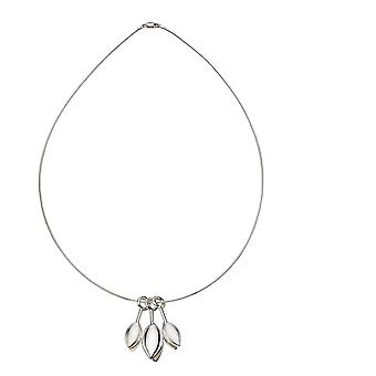 Elements Silver Ladies 925 Sterling Silver Three Tulip Drop Pendentif Collier de longueur 46cm