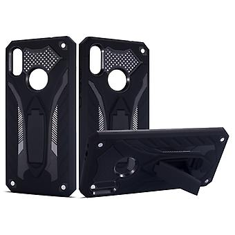 Shockproof TPU + PC Protective Case with Holder For Xiaomi Redmi Note 7(Black)