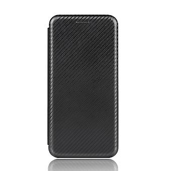 For Google Pixel 4A 5G Carbon Fiber Texture Magnetic Horizontal Flip TPU + PC + PU Leather Case with Card Slot(Black)