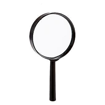 Magnifying glass With handle Black Glass (1,5 x 15 x 7,5 cm) (Ø 7,5 cm)