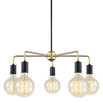 Italux Malene - moderne hängende Anhänger schwarz, Gold 5 Licht, E27