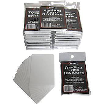 BCW kereskedési kártya elválasztók 10 csomagonként