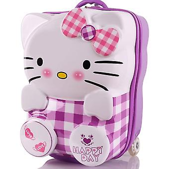 Estudante Hello Kitty Mochila Mala Sobre Rodas /Bagagem rolando