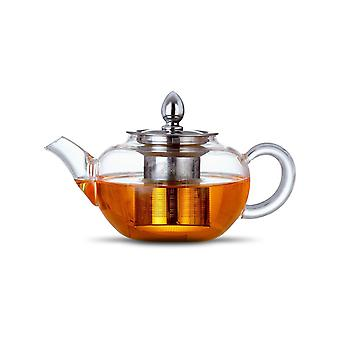 Glass Teapot Infuser With Lid 400 Ml Borosilicate Glass And 304 Stainless Steel Loose Leaf Teapot Infuser