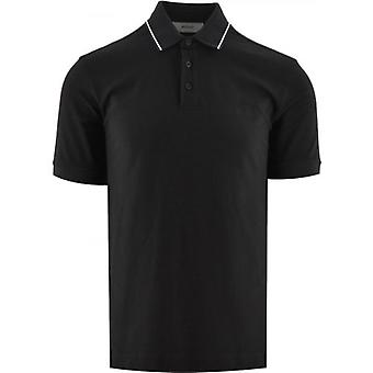 Z Zegna Dark Navy Short Sleeve Polo Shirt