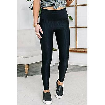 Just Making Moves Textured Leggings