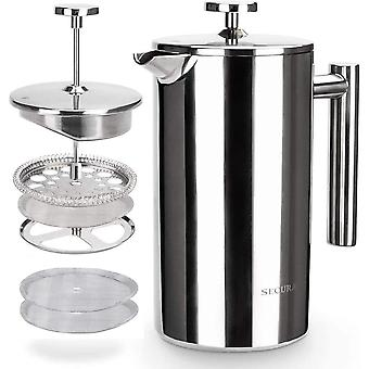 Secura French Press Coffee Maker 18/10 Stainless Steel