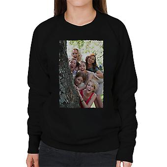 Brudtärnor Brudar Brudfest runt träd kvinnor's Sweatshirt