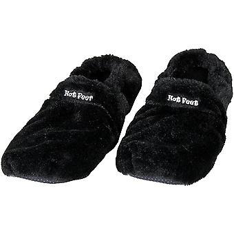 Pieds chauds, pantoufles chauffantes - Noir