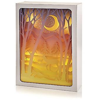 Christmas Shop Diorama Vinter skog Moonlit Scene