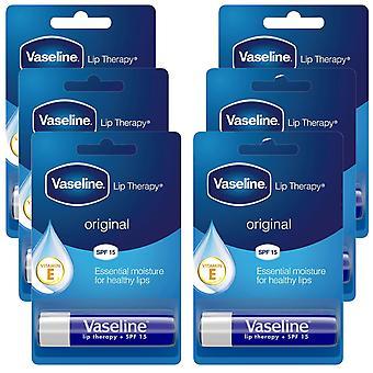 6x of 4g, Vaseline Lip Therapy Essential Moisture Original Balm Stick With SPF15