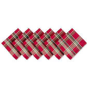 Dii Tango Red Plaid Napkin (jeu de 6)