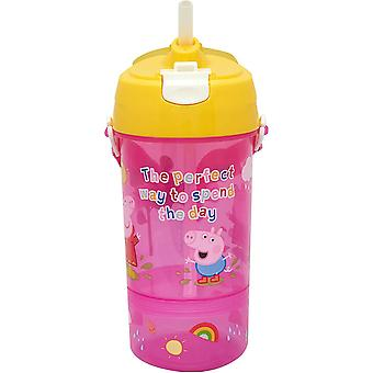 Peppa Pig Childrens/Kids Sip And Snack Water Bottle
