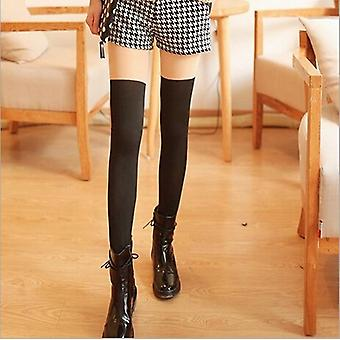 Új divat harisnya alkalmi pamut comb magas akril zokni