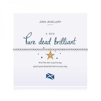 Joma Jewellery A Little Pure Dead Brilliant Silver Yellow Gold 17.5cm Stretch Bracelet 4009