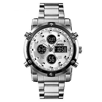 SKMEI 1389 Business Style Multifunktion Big Dial Quartz Watch Vandtæt Stål