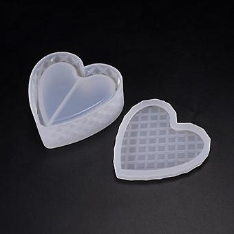 Silicone Mold Storage Box For Jewelry Making, Heart Shape, Cut Diy Crystal