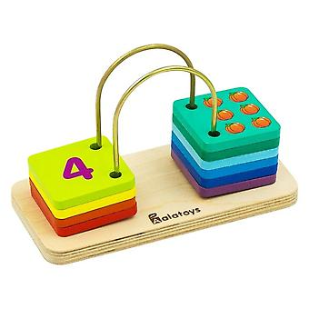 Alatoys Wooden  Set for count, 10 parts learning numbers