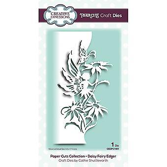 Kreative udtryk Papir Cuts Collection Cutting Dies - Daisy Fairy Edger