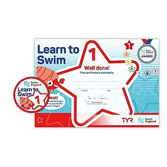 ASA zwemmen Engeland leren zwemmen Award fase 1