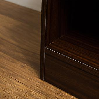 Hulio 1 Drawer Bedside Chest Cabinet High Gloss, Walnut & Black