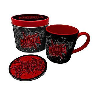 Metallica Logo Mug and Coaster Set in Gift Tin