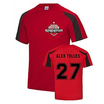 Alex Telles Manchester Sports Training Jersey (Red)