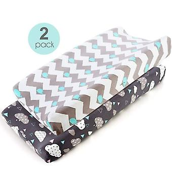 Wedge Baby Changing Mat Cradle Sheet Changing Pad Cover Set Ultra Soft Stretchy