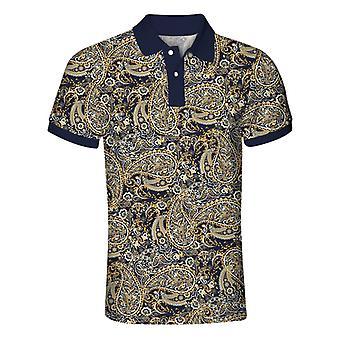 Allthemen Men's Lapel Gilt Polo Short Sleeve Shirt Golf T-Shirt