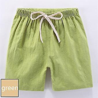 Pantaloncini estivi per bambini, casual per bambini, lino di cotone traspirante morbido corto