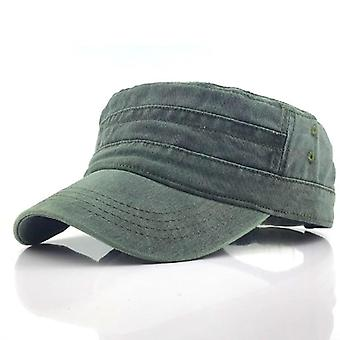 Classic Vintage Flat Top Mens Washed Caps