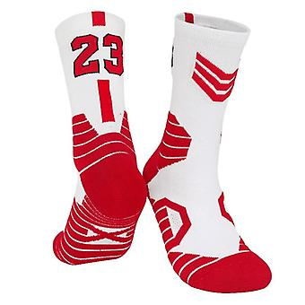Basketball Player Thick Sport Crew Towel Socks For Adult