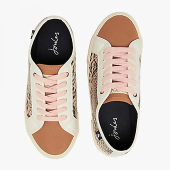 Joules Coast Pump Ladies Casual Trainers Snake
