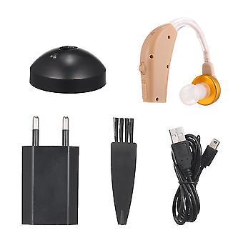 Nouveau dispositif d'écoute d'oreille interne d'aides auditives amplificateur de son pour les personnes âgées et adultes avec l'aide auditive de cas de stockage rechargeable
