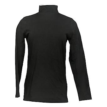 Denim & Co. Women's Top Long-Sleeve Black A389884
