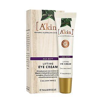 A'kin Age-Defy Lifting Eye Cream Natural Anti Wrinkle Skin Care Lotion 15ml