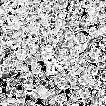 ميوكي ديليكا بذور الخرز، 11/0 الحجم، 7.2 غرام، شفافة كريستال DB141